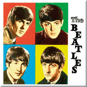 Beatles Four Colours (Square) fridge magnet