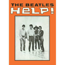 Beatles Help (single cover - orange) fridge magnet REDUCED TO CLEAR