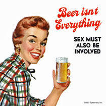 Beer Isn't Everything, Sex Must... single drinks mat / coaster (hb)