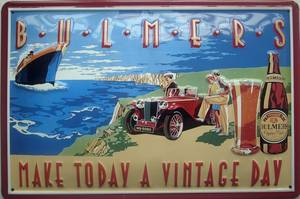 Bulmers Cider ''Vintage Day'' embossed steel sign