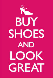 Buy Shoes and Look Great steel fridge magnet