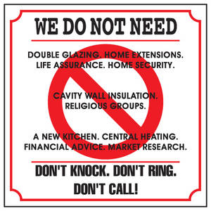 Don t knock enamelled steel wall sign