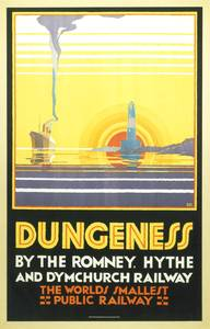 Dungeness Kent (old rail ad.) fridge magnet