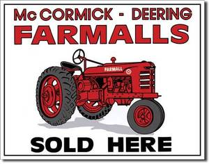 Farmalls Sold Here Metal Sign  (de)