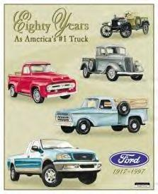 Ford 80 years pickups metal sign (ga)