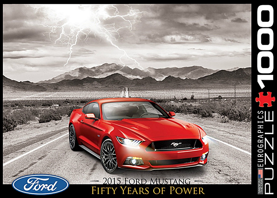 ford mustang gt 2015 1000 piece jigsaw puzzle 680mm x 490mm pz. Black Bedroom Furniture Sets. Home Design Ideas