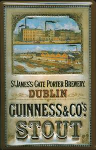 Guinness Brewery Steel Sign (s)