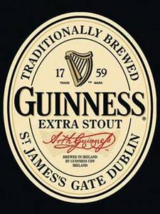 Guinness Label metal postcard