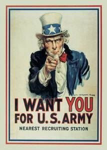 I Want You (Uncle Sam) steel fridge magnet   na