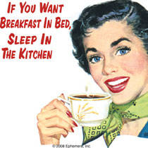If You Want Breakfast In Bed... single funny drinks coaster