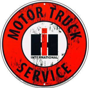 International Harvester Motor Truck Service metal sign