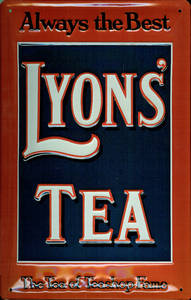 Lyons Tea Always The Best embossed steel sign  (hi 2030)