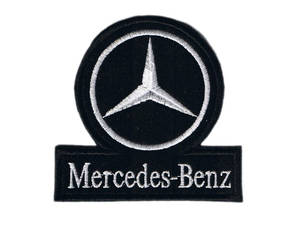 Mercedes benz iron on sew on cloth patch os shaped for Mercedes benz iron
