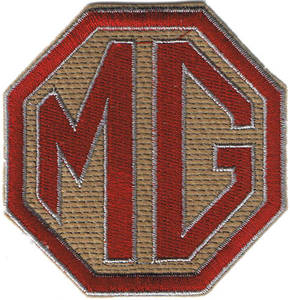 MG Octagon jumbo sized iron-on/sew-on cloth patch  (os)