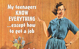 My Teenagers Know Everything... funny fridge magnet  (ep)
