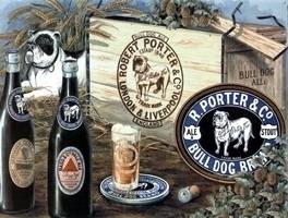 R Porter Bass & Guinness steel sign  HALF PRICE TO CLEAR!!!