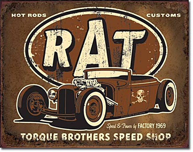 Rat Hot Rod Torque Bros. metal sign de