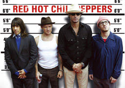 Red Hot Chili Peppers steel fridge magnet   (sd)