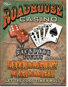 Roadhouse Casino metal sign
