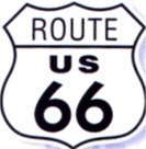 Route 66 Shield die-cut Steel Sign