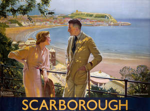 Scarborough (man & lady)(is) (old rail ad.) fridge magnet