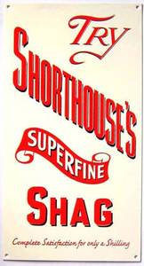 Shorthouse's Superfine Shag enamelled wall sign  (dp)