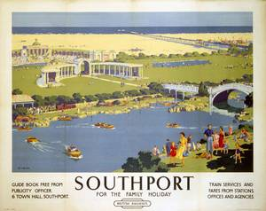 Southport Family Holiday (old rail ad.) fridge magnet