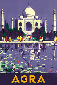 Taj Mahal steel fridge magnet