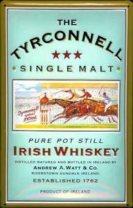 Tyrconnell Single Malt Whiskey embossed steel sign
