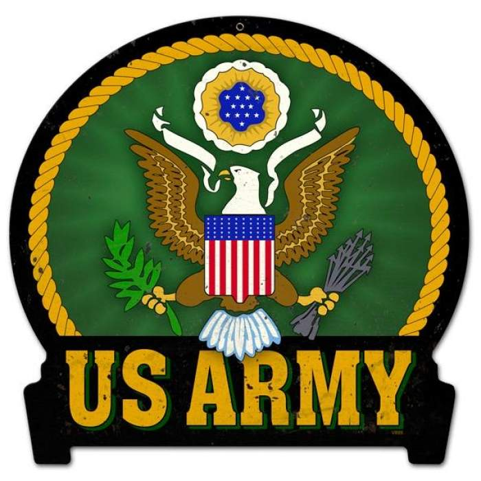 Us Army Die Cut Metal Sign Pst Shaped. Legend Signs Of Stroke. 20th January Signs Of Stroke. Safety Signs Of Stroke. Plaque Signs Of Stroke