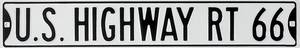 US Highway Rt. 66 embossed steel wall sign