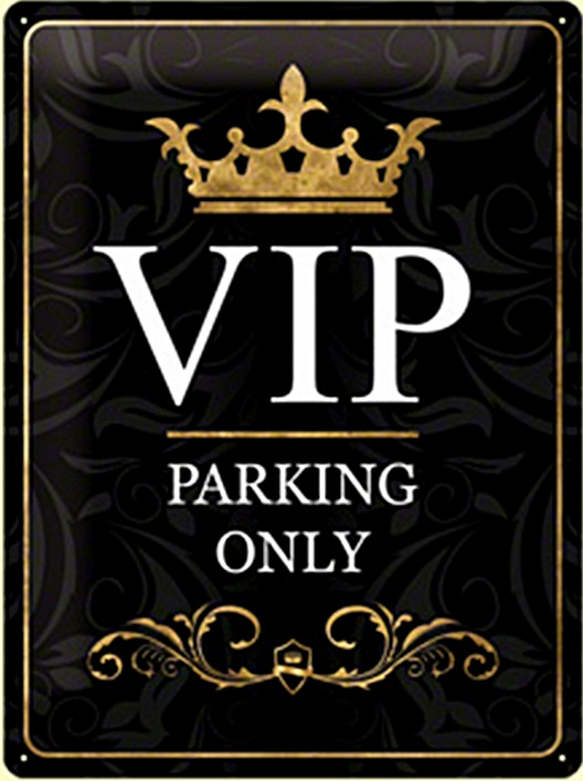 VIP Parking Only embossed large metal sign na 4030