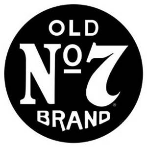 (Jack Daniels) Old No 7 Brand round tin wall sign