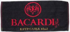 Bacardi Rum Cotton Bar Towel  (pp)