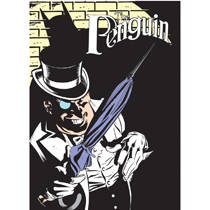 Batman The Penguin steel fridge magnet   REDUCED TO CLEAR