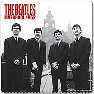 Beatles Liverpool 1962 cork backed drinks mat ro coaster