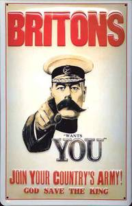 Britons Your Country Needs You embossed steel sign   (hi 3020)