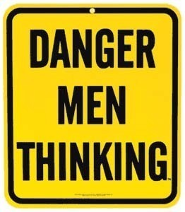Danger Men Thinking Steel Fridge Magnet  (ar)