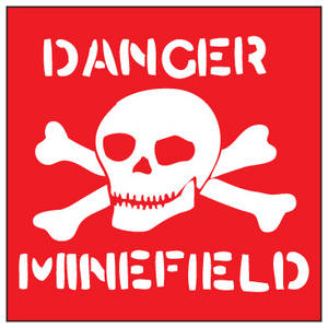 Danger Minefield steel wall sign   (dp)