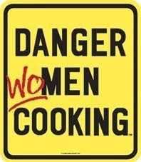 Danger Women Cooking Steel Fridge Magnet  HALF PRICE TO CLEAR