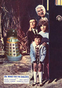 Dr. Who & Daleks / Cushing steel fridge magnet   (sd)