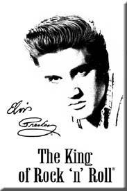 Elvis King of Rock n Roll Fridge Magnet   (de)