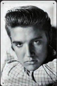 Elvis Presley metal postcard / mini-sign  (na)