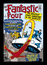 Fantastic Four (1) steel fridge magnet