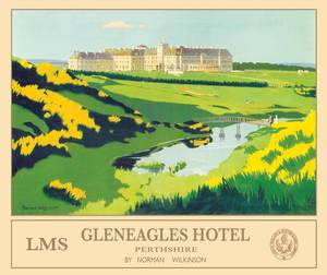 Gleneagles (old rail ad.) small metal sign  200mm x 150mm  (og)
