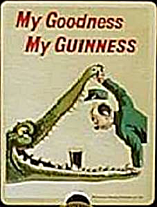 Guinness ''Crocodile'' steel fridge magnet  (sg)