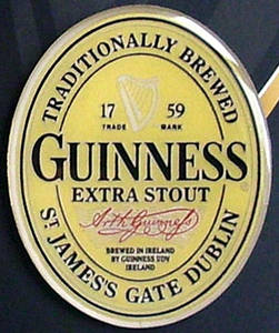 Guinness Label die cut heavy metal fridge magnet   (sg)