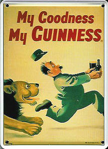 Guinness Lion metal postcard / mini-sign   (hi pt)