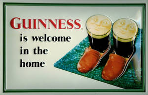 Guinness Slippers embossed steel sign