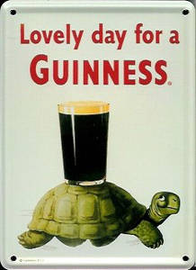 Guinness Tortoise mini sign / metal postcard    (hi)
